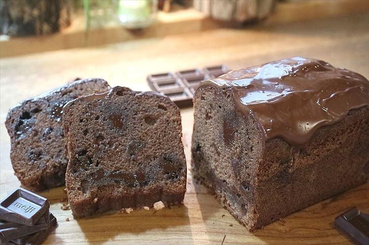 チョコレートパウンドケーキ出来上がり