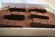 生チョコにココアをかける